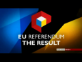 2016 | EU Referendum : The Result